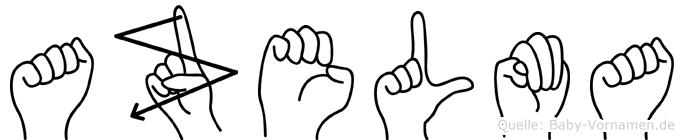 Azelma in Fingersprache für Gehörlose
