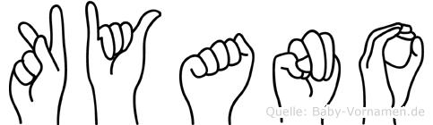 Kyano in Fingersprache für Gehörlose