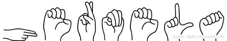 Hermela im Fingeralphabet der Deutschen Gebärdensprache