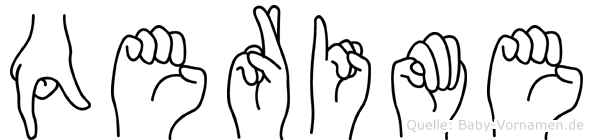 Qerime im Fingeralphabet der Deutschen Gebärdensprache