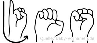 Jes in Fingersprache für Gehörlose