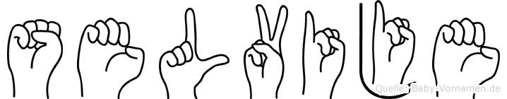 Selvije im Fingeralphabet der Deutschen Gebärdensprache