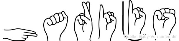 Harijs im Fingeralphabet der Deutschen Gebärdensprache