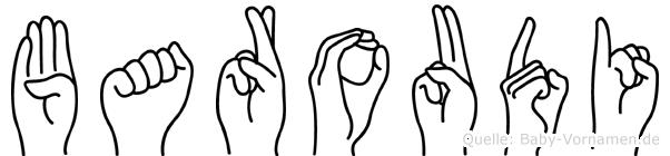 Baroudi im Fingeralphabet der Deutschen Gebärdensprache