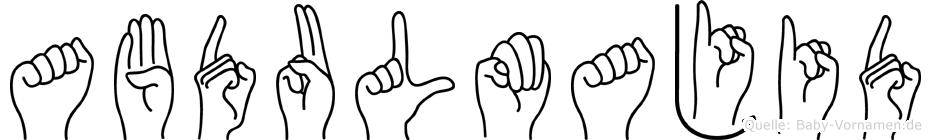 Abdulmajid in Fingersprache für Gehörlose