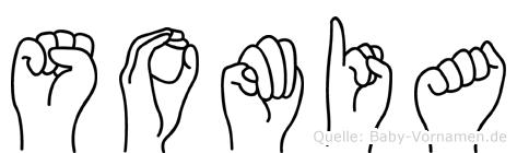 Somia im Fingeralphabet der Deutschen Gebärdensprache