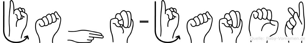 Jahn-Janek im Fingeralphabet der Deutschen Gebärdensprache