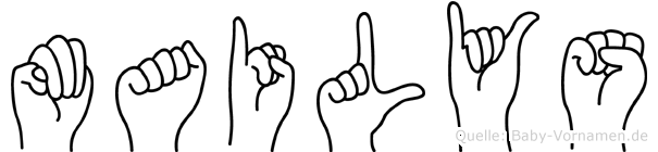 Mailys im Fingeralphabet der Deutschen Gebärdensprache