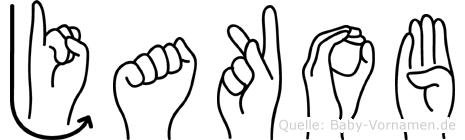 Jakob in Fingersprache für Gehörlose