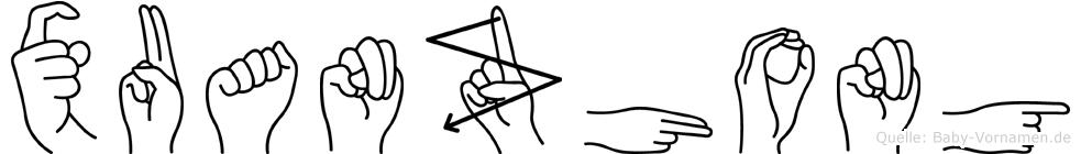 Xuanzhong im Fingeralphabet der Deutschen Gebärdensprache