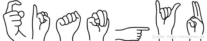 Xiangyu in Fingersprache für Gehörlose