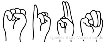 Siun in Fingersprache für Gehörlose