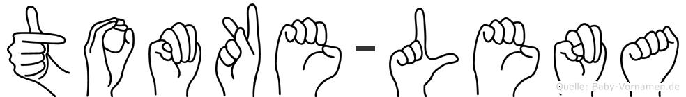 Tomke-Lena im Fingeralphabet der Deutschen Gebärdensprache