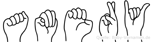 Amery in Fingersprache für Gehörlose