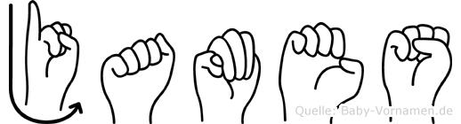 James im Fingeralphabet der Deutschen Gebärdensprache