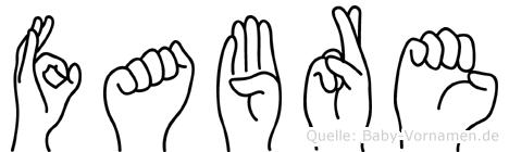 Fabre in Fingersprache für Gehörlose