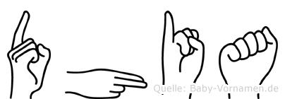 Dhia in Fingersprache für Gehörlose