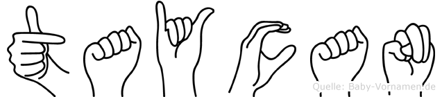 Taycan im Fingeralphabet der Deutschen Gebärdensprache