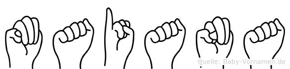 Maiana in Fingersprache für Gehörlose