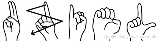 Uziel in Fingersprache für Gehörlose