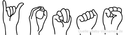 Yonas im Fingeralphabet der Deutschen Gebärdensprache