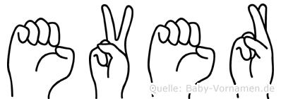Ever in Fingersprache für Gehörlose