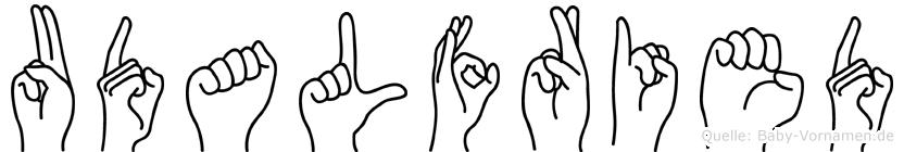 Udalfried im Fingeralphabet der Deutschen Gebärdensprache