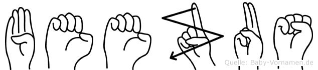 Beezus im Fingeralphabet der Deutschen Gebärdensprache