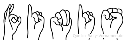 Finis in Fingersprache für Gehörlose