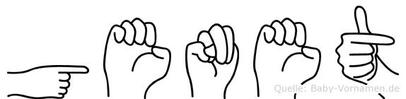 Genet im Fingeralphabet der Deutschen Gebärdensprache