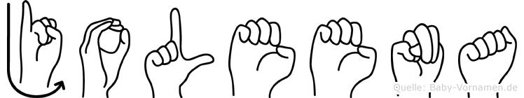 Joleena in Fingersprache für Gehörlose