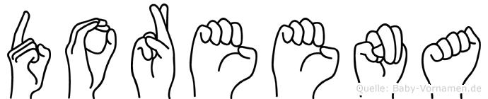 Doreena im Fingeralphabet der Deutschen Gebärdensprache