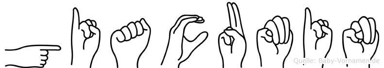 Giacumin in Fingersprache für Gehörlose