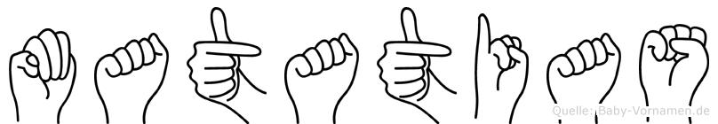 Matatias in Fingersprache für Gehörlose