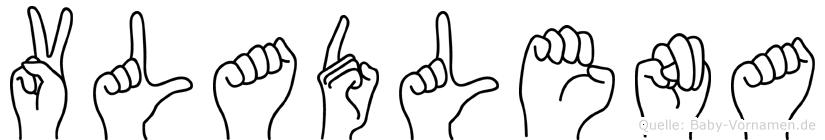 Vladlena in Fingersprache für Gehörlose