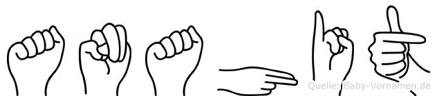 Anahit im Fingeralphabet der Deutschen Gebärdensprache