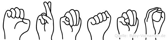 Ermano im Fingeralphabet der Deutschen Gebärdensprache