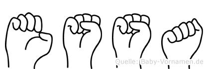 Essa im Fingeralphabet der Deutschen Gebärdensprache