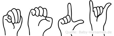 Mely in Fingersprache für Gehörlose