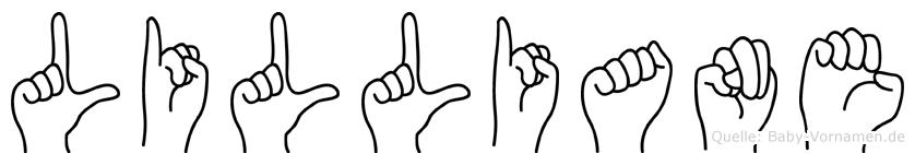 Lilliane in Fingersprache für Gehörlose