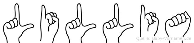 Lillia im Fingeralphabet der Deutschen Gebärdensprache