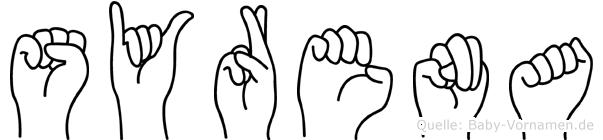 Syrena im Fingeralphabet der Deutschen Gebärdensprache
