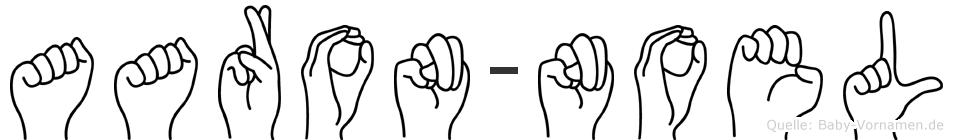 Aaron-Noel im Fingeralphabet der Deutschen Gebärdensprache