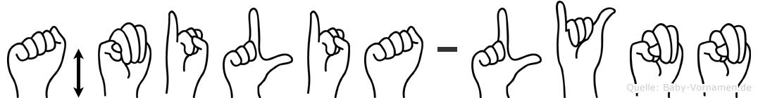 Ämilia-Lynn im Fingeralphabet der Deutschen Gebärdensprache