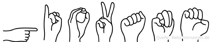 Giovane im Fingeralphabet der Deutschen Gebärdensprache