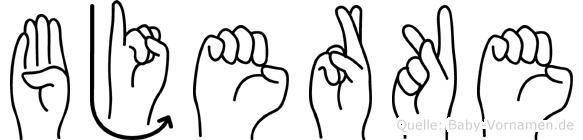 Bjerke in Fingersprache für Gehörlose