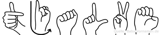 Tjalve in Fingersprache für Gehörlose