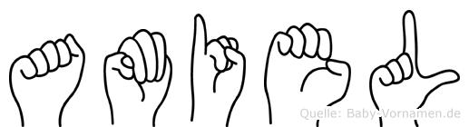 Amiel in Fingersprache für Gehörlose