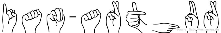 Ian-Arthur im Fingeralphabet der Deutschen Gebärdensprache