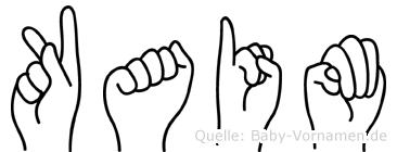 Kaim im Fingeralphabet der Deutschen Gebärdensprache